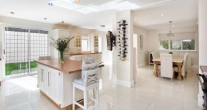 The open-plan kitchen/diningroom at 7 Mather Road North