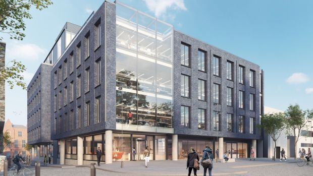 The Eight Building on Newmarket Square will comprise 75,000sq ft of grade-A office space.
