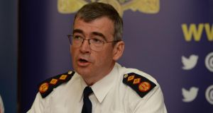 Garda Commissioner Drew Harris: The Garda  structure of 28 divisions and more than 120 districts is being significantly tailored in his plan so there will be fewer posts in the superintending ranks. Photograph: Alan Betson