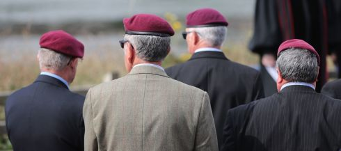 RECALLING THE FALLEN: Veterans of the Paratroop Regiment attend a service at Narrow Water, near Warrenpoint, Co Down, to mark the 40th anniversary of the killing by the IRA of 18 soldiers on August 27th, 1979, the same day Lord Mountbatten was killed in Mullaghmore, Co Sligo. Photograph: Niall Carson/PA Wire