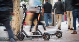 Electric scooters are currently not regulated in Ireland and are technically illegal. Photograph: Bloomberg via Getty Images