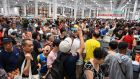 People in the first Costco outlet in China, on the stores opening day in Shanghai on Tuesday. Photograph: Getty Images