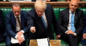 British prime minister Boris Johnson speaking in the House of Commons. File photograph: Jessica Taylor/UK Parliament/AFP/Getty