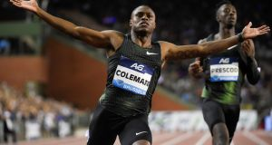 World's fastest 100m sprinter Christian Coleman may miss the upcoming World Championships in Doha and the Tokyo Olympics next year due to three missed tests. Photograph: Getty Images