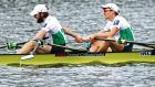 Paul O'Donovan and Fintan McCarthy of Ireland qualified for the Olympics at the World Rowing Championships. Photo: Dean Mouhtaropoulos/Getty Images