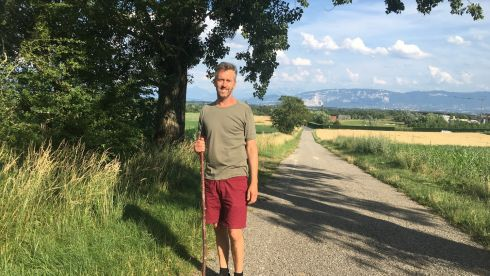 Michael Doyle, pictured in the French Jura just outside Geneva, is originally from St Mullins, Co Carlow. He lives in Geneva, where he works as a maths teacher in an international school.