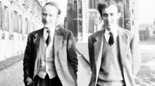 Francis Crick and James Watson made the greatest biological discovery of the 20th century when they solved the structure of DNA.  Photograph: Cold Spring Harbor Laboratory Archives/The New York Times