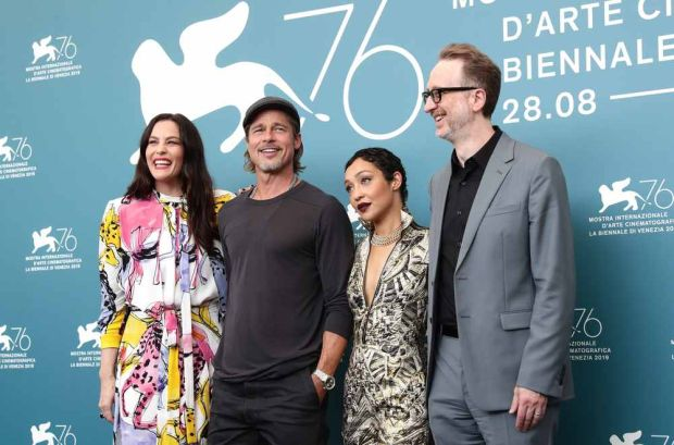 Liv Tyler, Brad Pitt, Ruth Negga and director James Gray at the premiere of Ad Astra. Photograph: