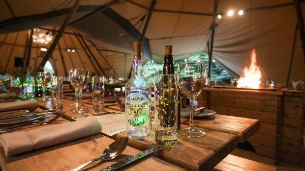 Teepee dining events at Crannagael House during the Armagh Food & Cider Festival