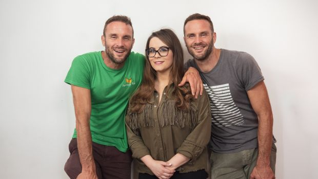 David and Stephen Flynn of The Happy Pear with Jennifer Rock of The Skin Nerd, who have teamed up to launch a new online course