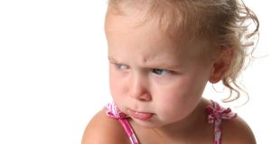 'If I say no to my 20-months-old daughter  she throws a big tantrum and can hit out.' Photograph: iStock