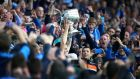 Dublin captain Stephen Cluxton lifts  the Sam Maguire after their win over Kerry in 2015, the first All-Ireland title in the drive for five. Photograph: Cathal Noonan/Inpho