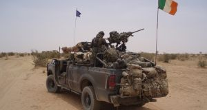 Irish Army Rangers on patrol in Chad in 2008. File photograph: Conor Lally.