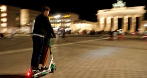 A report commissioned by the Road Safety Authority on e-scooter use in other EU countries found differing regulations and poor standards of enforcement. Photograph: Fabrizio Bensch/Reuters