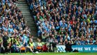 Dean Rock's late free went wide as the All-Ireland SFC Final ended in a draw. Photograph: James Crombie/Inpho