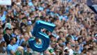 Dublin fans on Hill 16 during the All-Ireland final against Kerry. Photograph: Dara Mac Dónaill