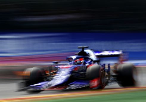 WEEKEND DRIVER: Daniil Kvyat driving the Scuderia Toro Rosso STR14 Honda during the F1 Grand Prix of Belgium at Circuit de Spa-Francorchamps, in Spa, Belgium. Photograph: Mark Thompson/Getty