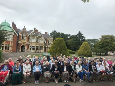 FIGHTING MEN AND WOMEN: More than 80 intelligence veterans who played a secret role in efforts to end the second World War gather at Bletchley Park, the centre of British codebreaking at the time, to mark the 80th anniversary of the start of the conflict. The veterans helped crack German codes to unravel Nazi intelligence. Photograph: Georgina Stubbs/PA Wire