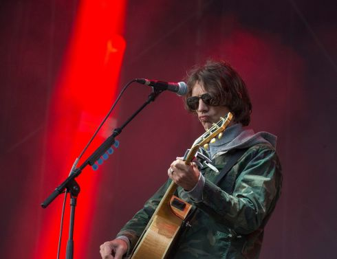 Richard Ashcroft performing on the main stage at Electric Picnic on Sunday.  Photograph: Dave Meehan/The Irish Times