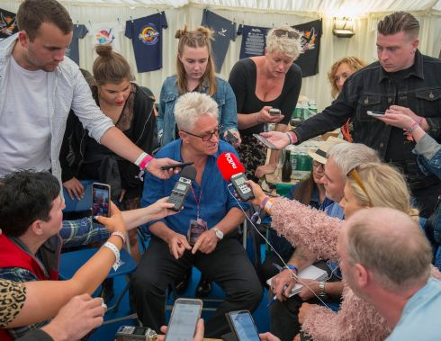 Festival director Melvin Benn during a press conference on Sunday.  Photograph: Dave Meehan/The Irish Times