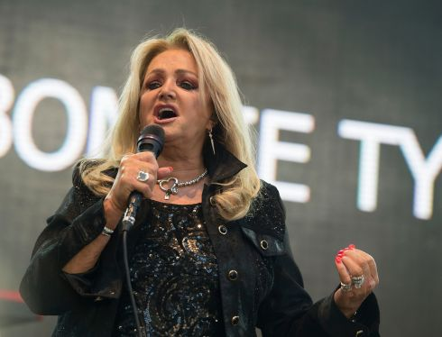 Bonnie Tyler playing on the Throwback stage at Electric Picnic. Photograph: Dave Meehan/The Irish Times