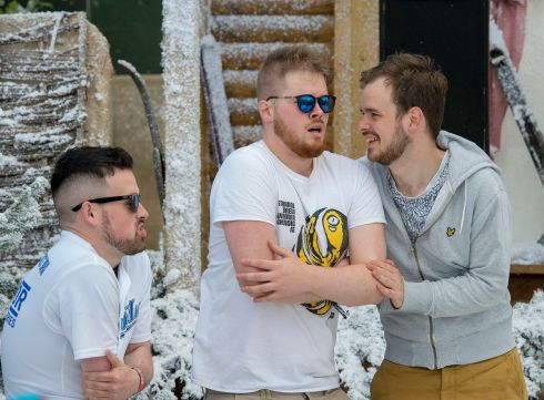 Chilling at Apres Ski on Saturday afternoon at Electric Picnic. Photograph: Dave Meehan/The Irish Times