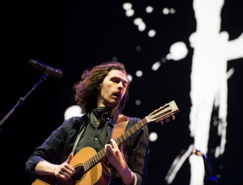 Hozier performing on the main stage at Electric Picnic.  Photograph: Dave Meehan/The Irish Times