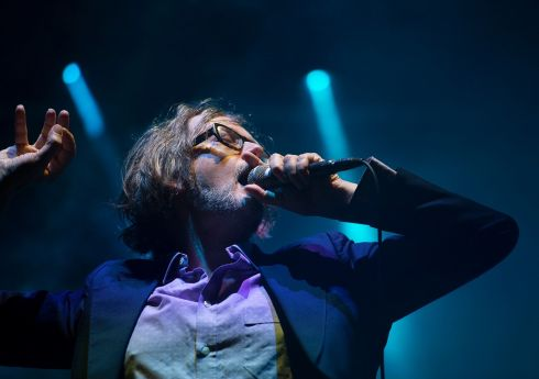 Jarvis Cocker on the Electric Arena stage. Photograph: Dave Meehan/The Irish Times