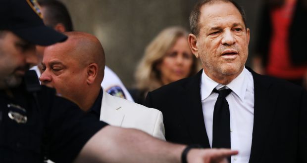 Harvey Weinstein exits court after an arraignment over a new indictment for sexual assault on August 26th, in New York. Photograph:  Spencer Platt/Getty Images