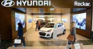 New Hyundai store in Bluewater Shopping Centre.