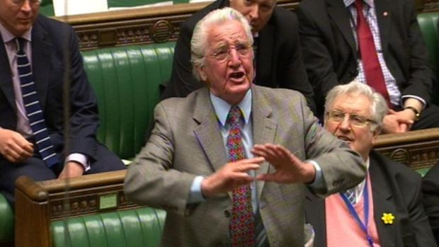 Labour MP Dennis Skinner was left £1,000 by Hampton