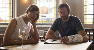 Rosamund Pike and  Chris O'Dowd in State of the Union, Sunday night on BBC2