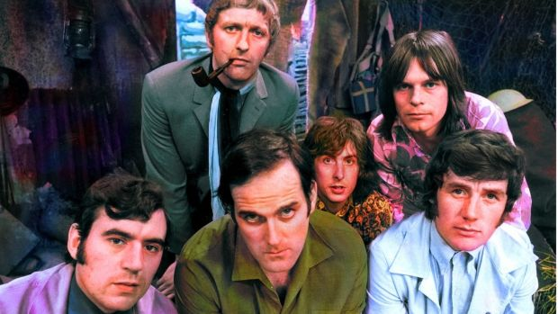 Terry Jones, Graham Chapman, John Cleese, Eric Idle, Terry Gilliam and Michael Palin of Monty Python's Flying Circus.