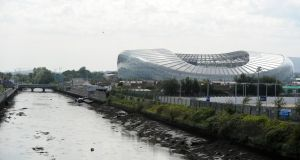 Matches at the Aviva stadium can cause parking problems in Ringsend. Photograph: Aidan Crawley