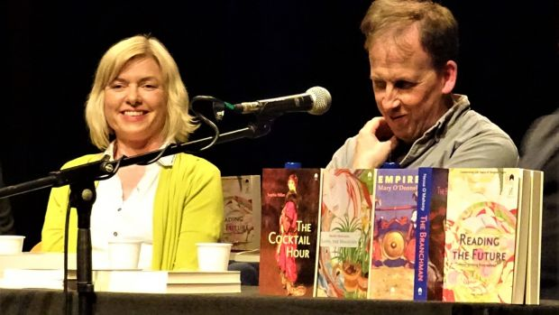 Danielle McLaughlin and her publisher Declan Meade of Stinging Fly at last year's festival