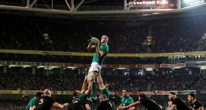 Devin Toner wins a lineout during the Autumn International against New Zealand at the Aviva stadium in November 2018. Photograph: Gary Carr/Inpho