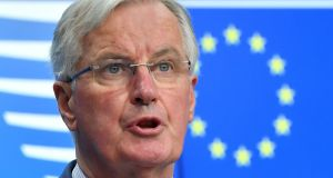 Chief EU negotiator for Brexit Michel Barnier: UK will find it difficult to come up with a formulation that will meet his red lines. Photograph: Emmanuel Dunand