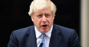 British prime minister Boris Johnson has issued rebel Tory MPs with an ultimatium, either support him or face an election. Photograph: Getty