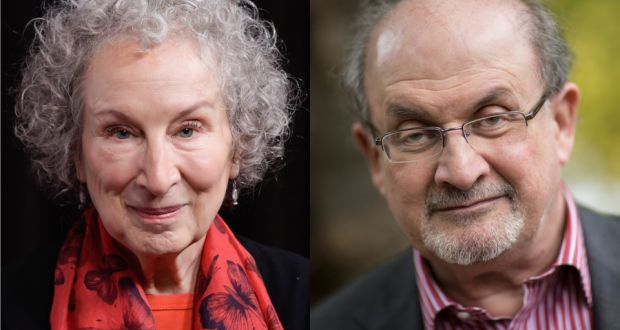 Margaret Atwood and Salman Rushdie. Photographs: Tara Ziemba/WireImage;  David Levenson/Getty Images