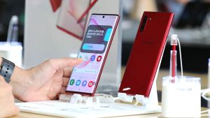 Samsung's Galaxy Note 10 smartphone: The S Pen is once again the star of the show. Photograph: EPA