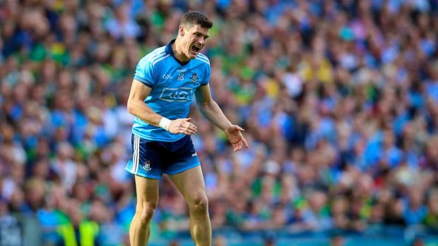 Diarmuid Connolly reacts after missing the target with his speculative long-range effort late in the All-Ireland final. Photograph: Tommy Dickson/Inpho