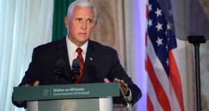 US vice-president Mike Pence said Doonbeg was the 'logical' choice to use as a base for his visit to Ireland. Photograph: Dara MacDonaill/The Irish Times