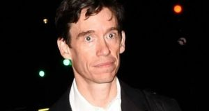 Rory Stewart says he was sacked while receiving the GQ politician of the year award. Photograph: Getty Images