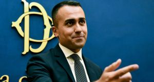 Five Star Movement leader Luigi Di Maio will be foreign minister in the new Italian government. Photograph: Andreas Solaro/AFP/Getty Images