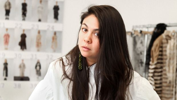 Simone Rocha, fashion designer, at her studio in London. Photograph: Joanne O'Brien
