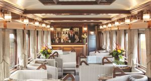 The observation car and bar on the Belmond Grand Hibernian.