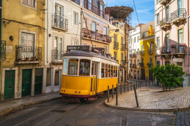 Lisbon, Portugal: the number 28 tram winds through some of the Portuguese capital's most picturesque streets. Photograph: iStock