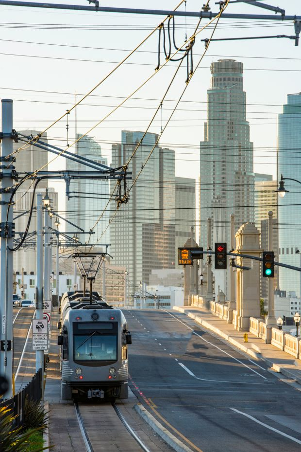 Los Angeles: the light rail system connects the city's downtown area with Santa Monica. Photograph: iStock