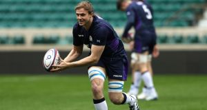 Secondrow Jonny Gray  has returned from a hamstring injury and will play for Scotland against Georgia on Friday night. Photograph:  David Rogers/Getty Images