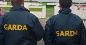 An image tweeted by the Garda on Tuesday after announcing the searches at Limerick FC. Photograph: An Garda Síochána